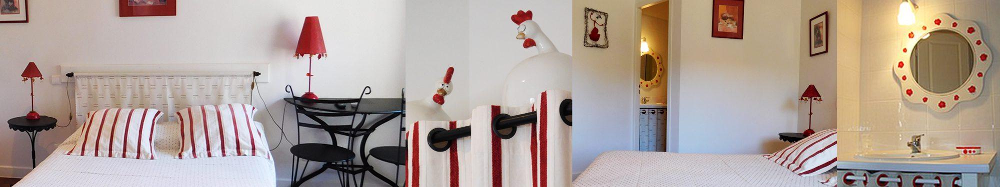 La chambre des «Poules» – Chambres d'hôtes Hue le Vent, La Digne-d'Amont